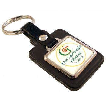 Keyfob Blank Rectangle 26x24mm and printed dome